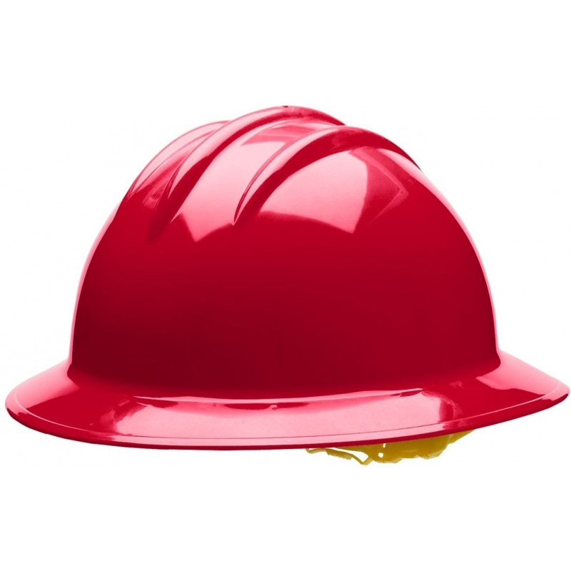 Bullard C35 35RDP 6pt. Pinlock Classic Extra Large Full Brim w/Accessory Slots Red Hard Hat 20/Case