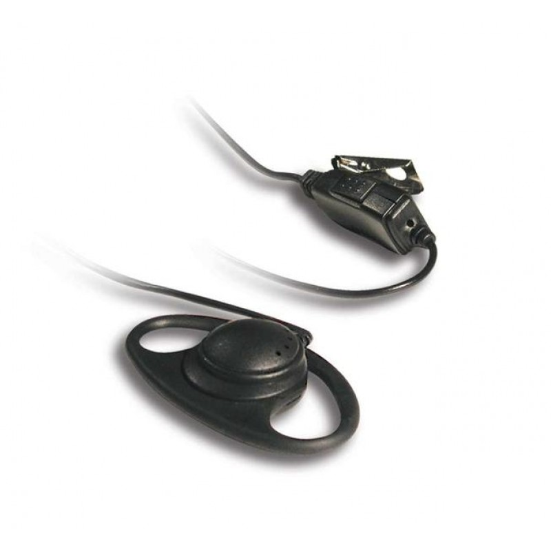 Headset with D-Ring Earpiece and Clip Microphone