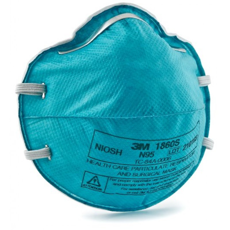 3M™ Health Care Particulate Respirator and Surgical Mask 1860S, N95 Small (Box of 20)