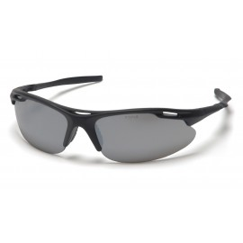Pyramex  Avante  Black Frame/Silver Mirror Lens  Safety Glasses  12/BX