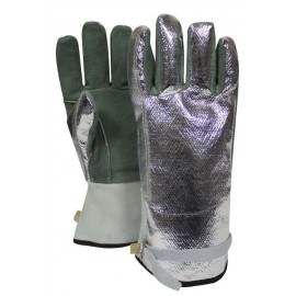NSA DJXG382S-J Aluminized Leather Glove Adjustable Strap Jumbo