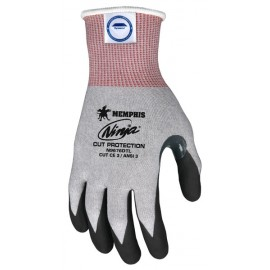 "MCR N9676DT ""Memphis Ninja"" Cut Protection, 15 Gauge Gray DSM Dyneema® Diamond Tech®, Work Glove 1/DZ"