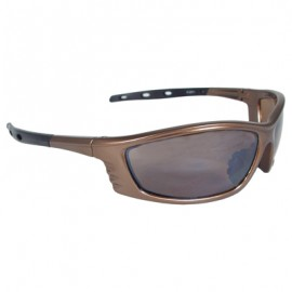 Radians Chaos Safety Glasses - Mocha Frame, Smoke Lens