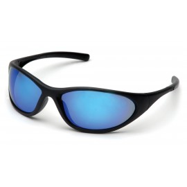 Pyramex Safety - Zone II - Matte Black Frame/Ice Blue Mirror Lens Polycarbonate Safety Glasses - 12 / BX