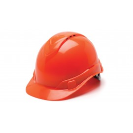 Pyramex Ridgeline Cap Style Hard Hat 4-Point Standard Ratchet Vented Orange Color - 16 per Case