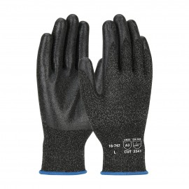 PIP 16-747/XS G-Tek Seamless Knit PolyKor Blended Glove with PVC Coated Smooth Grip on Palm & Fingers XS 6 DZ