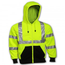 Tingley S78122.MD Class 3 Sweatshirt Fluorescent Yellow-Green Hooded