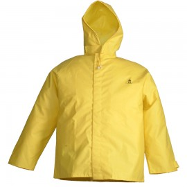 Tingley J56147.SM DuraBlast Jacket Yellow Storm Fly Front Attached Hood Hook & Loop Closures