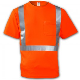 Tingley S75029.5X Class 2 T-Shirt Fluorescent Orange-Red Short Sleeve