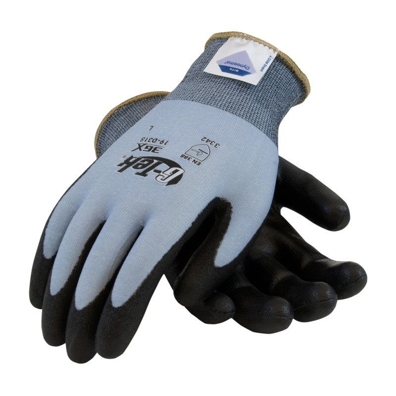 G-Tek 3GX Seamless Knit Dyneema Diamond / Lycra Glove with Polyurethane Coated Smooth Grip on Palm & Fingers