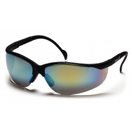 Pyramex Safety - Venture II - Black Frame/Gold Mirror Lens Polycarbonate Safety Glasses - 12 / BX