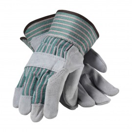 """B"" Grade Shoulder Split Leather Palm Glove - Rubberized Safety Cuff"