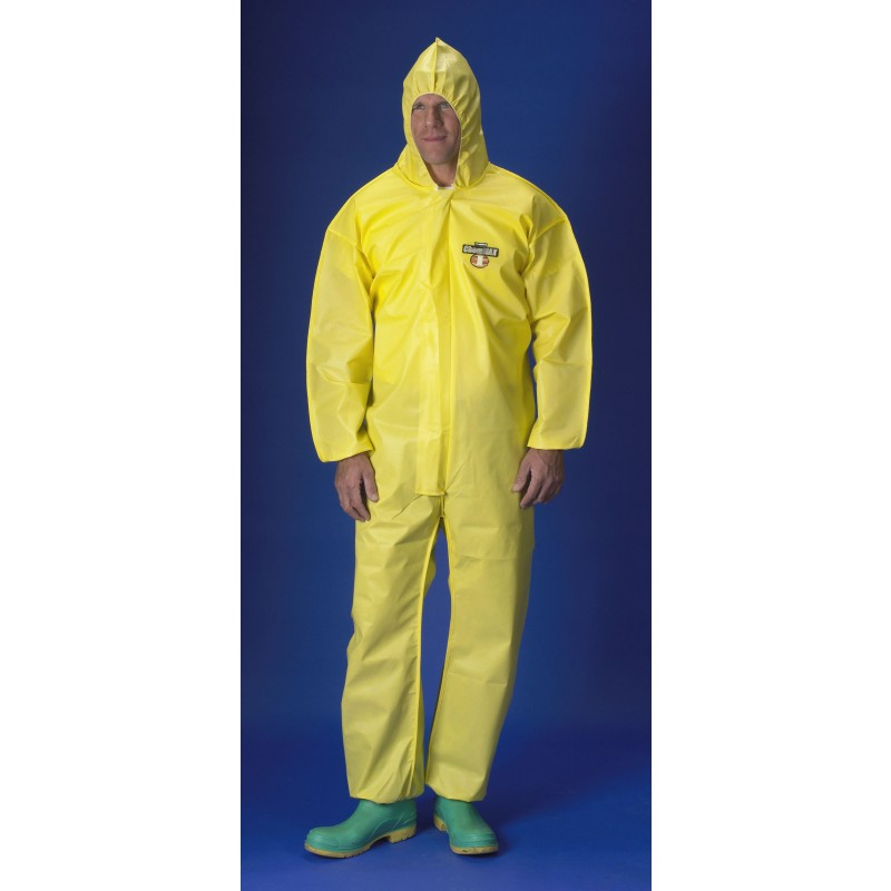 Lakeland Coveralls C5428 Chemical Protective Garment with Zipper Closure, Hood, Wrist and Ankles