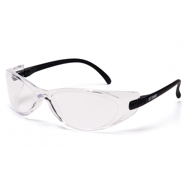 Pyramex Safety - GT2000 - Black Temples/Clear Lens Polycarbonate Safety Glasses - 12 / BX