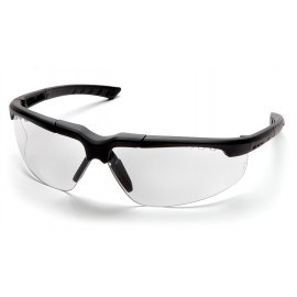 Pyramex Safety - Reatta - Charcoal Frame/Clear Lens Polycarbonate Safety Glasses - 12 / BX