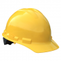 Radians Granite Cap Style 4 Point Ratchet Suspension Hard Hats Yellow Color  (1 Each)