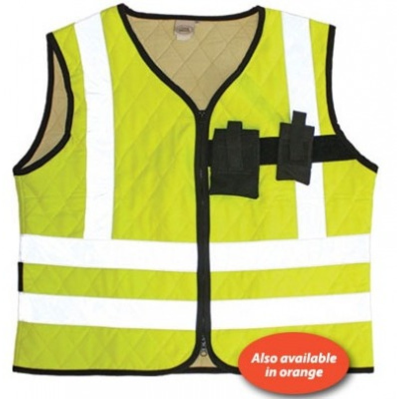 PIP Cool Medics High Visibility Cooling Vest with Pockets