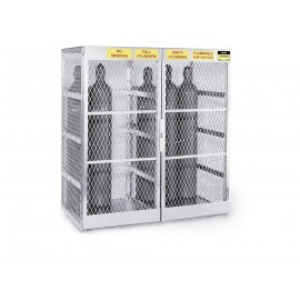 Justrite Cylinder Locker for Safe Storage of up to 20 Vertical Compressed Gas Cylinders