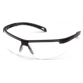 Pyramex  EverLite  Black Frame/Clear H2MAX AntiFog Lens  Safety Glasses  12/BX