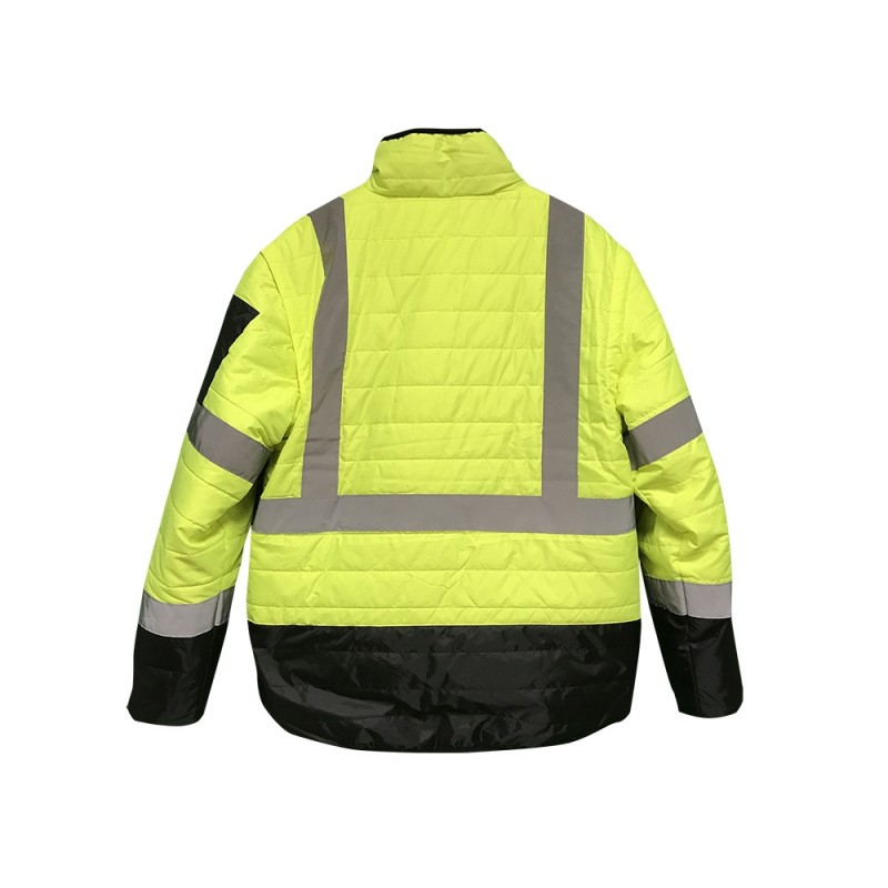 Radians Radwear SJ510 Quilted Jacket, Reversible 4-in-1 with Zip-Off Sleeves