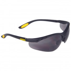 DEWALT Reinforcer Rx - Smoke Lens 2.5 Safety Glasses Half Frame Style Black Color - 12 Pairs / Box