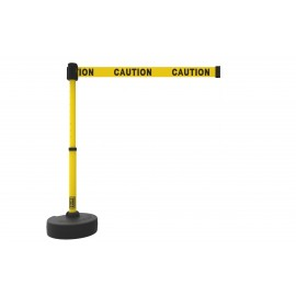 "Banner Stakes PL4083 PLUS Barrier Set, Yellow Double-Sided ""Caution"""