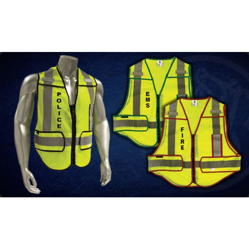 Smith & Wesson Zip-N-Rip ANSI Safety Vest - FIRE logo