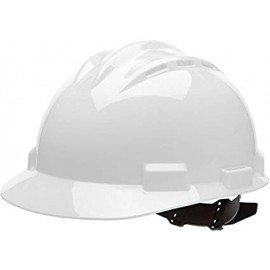 Bullard White HDPE Vented Cap Style Hard Hat 4 Point Pinlock Suspension | 62WHP