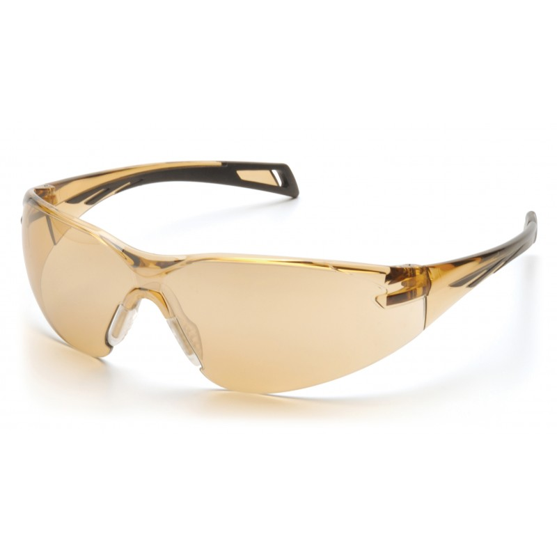 Pyramex Safety - PMXSLIM - Black Temples/Bronze Lens Polycarbonate Safety Glasses - 12 / BX