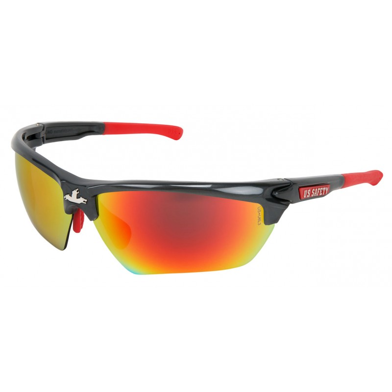 MCR Safety Dominator Glasses Red Polycarbonate One Size - 1 Dozen