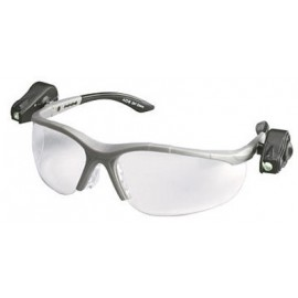 3M™ Light Vision™ 2 Protective Eyewear 11476-00000-10 Clear Anti-Fog Lens, Gray Frame, Lights