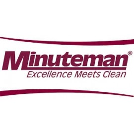 """Minuteman 7099 28"""" Cylindrical Brush Set Medium Duty (2 Included In Set) Green - Gray"""