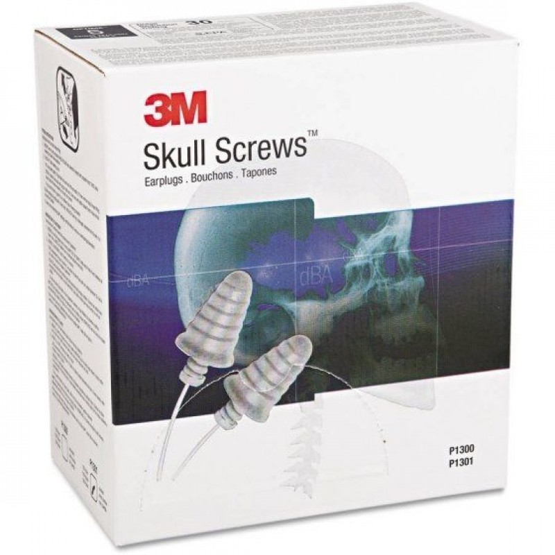 3M™ E-A-R™ Skull Screws™ Uncorded Earplugs P1300 (Box of 120)