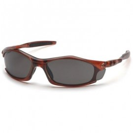 Pyramex Solara Safety Glass - Gray Lens with Orange Frame