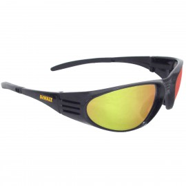 DEWALT Ventilator - Yellow Mirror Lens - Black Frame Safety Glasses Full Frame Style Black Color - 12 Pairs / Box