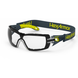 HexArmor MX200G Dual Action Anti-Fog Scratch Resistant Safety Glasses TruShield™S Clear Lens Clear Color - 12 / Box