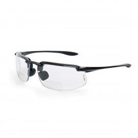 Radians ES4 Reader 1.25 Clear Black Safety Glasses Frameless Black 12 PR/Box