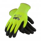 G-Tek CR Hi-Vis Seamless Knit HPPE / Glass Glove with Double-Dipped Nitrile Coated Micro-Surface Grip on Palm & Fingers