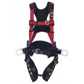 3M™ PROTECTA® PRO™ Construction Style Positioning Harness - Comfort Padding 1191434, Red, X-Large