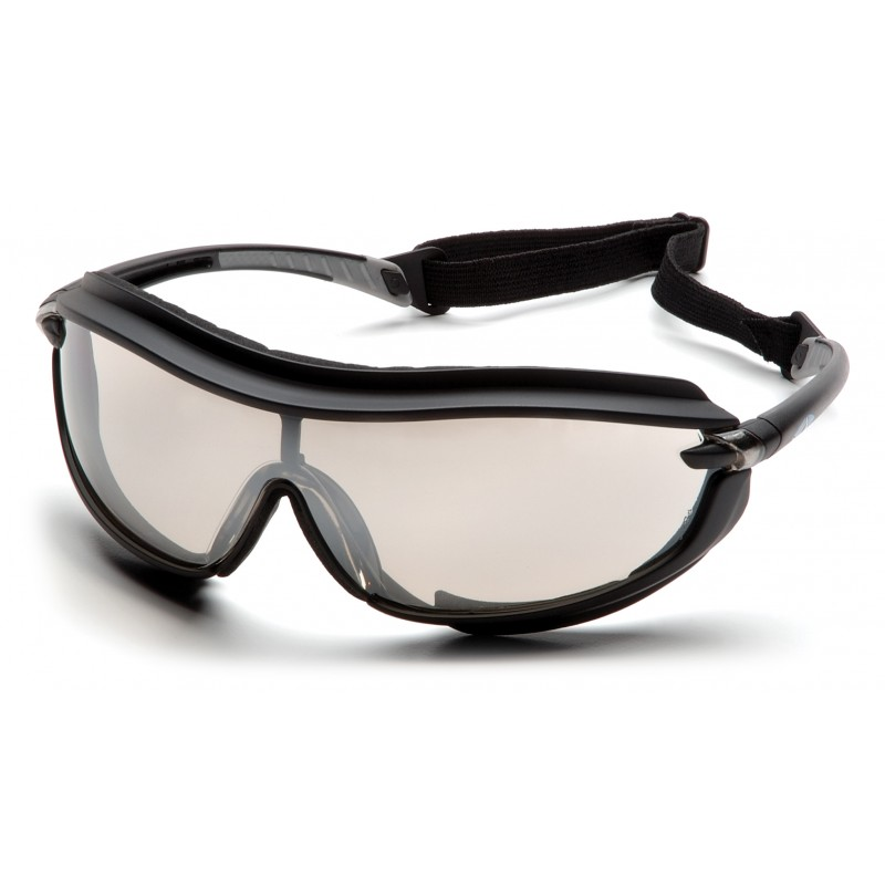 Pyramex SB4680STP Black Frame/Indoor/Outdoor Mirror Anti-Fog Lens