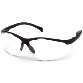 Pyramex  Gravex  Black Frame/Clear AntiFog Lens  Safety Glasses  12/BX