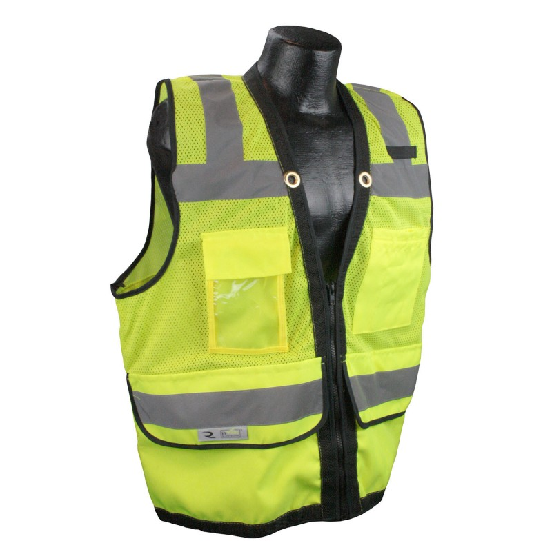 Radians SV59Z-2Z Safety Vest - Class 2 - Surveyor - Heavy Duty Mesh with Zipper (1 EA)