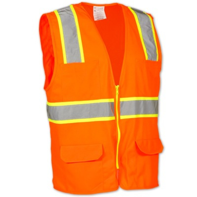 OccuLux Surveyor's Solid Two-Tone Safety Vest