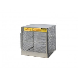 Justrite Cylinder Locker for Safe Storage of 4 vertical 20 or 33-lb. LPG Cylinders