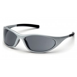 Pyramex Safety - Zone II - Silver Frame/Gray Lens Polycarbonate Safety Glasses - 12 / BX