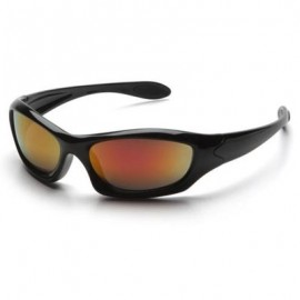 Pyramex Zone III Safety Glasses - Sky Red Mirror Lens 12/Box