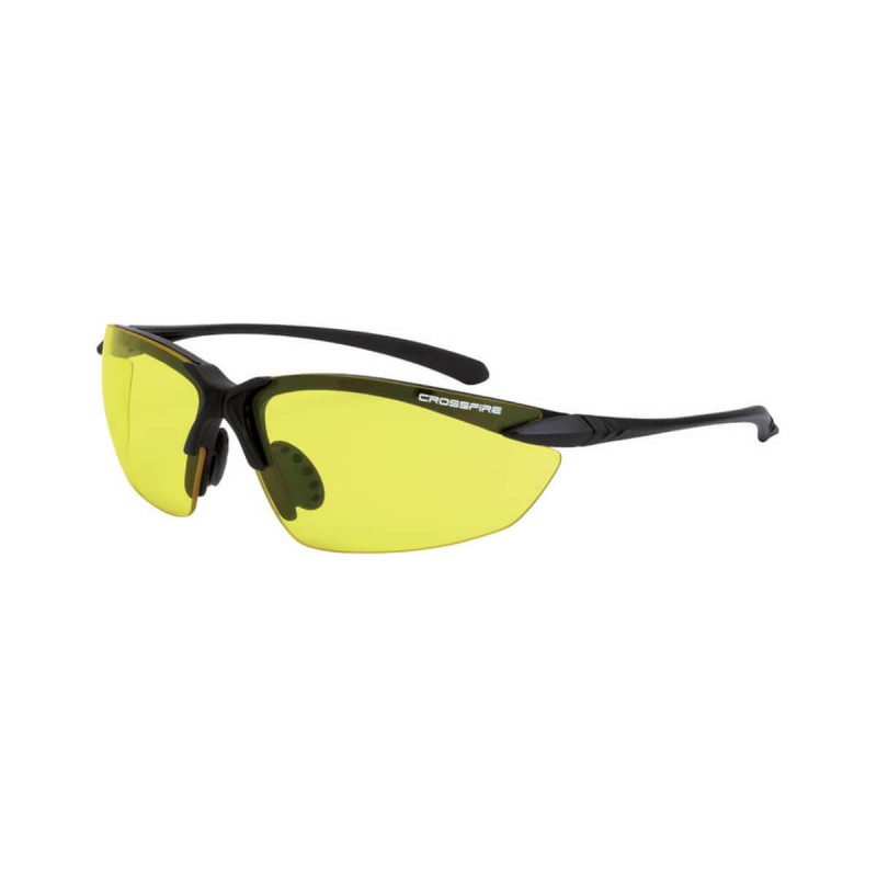 Radians Sniper Yellow Matte Black Frame Safety Glasses 12 PR/Box