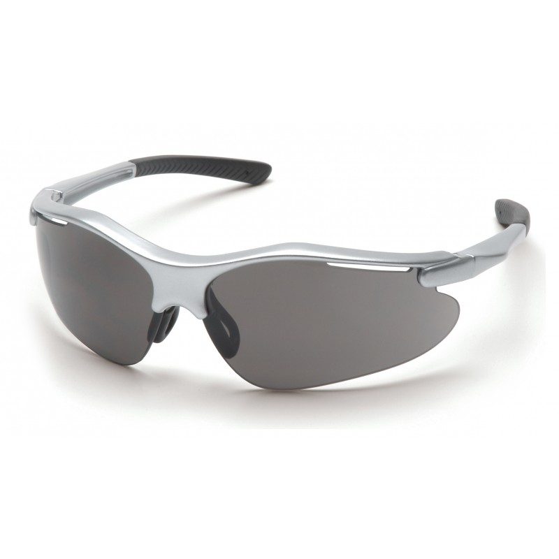 Pyramex Safety - Fortress - Silver Frame/Gray Lens Polycarbonate Safety Glasses - 12 / BX