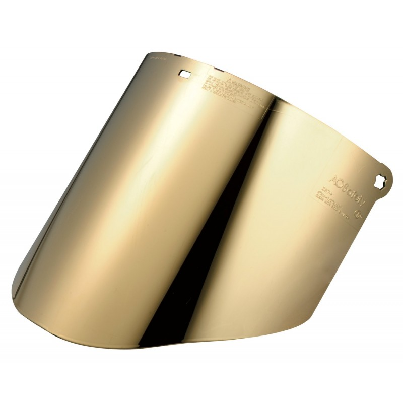 3M™ Total Performance Gold-Coated Polycarbonate Medium Green Faceshield Window WCP96BG 82603-00000 10 EA/Case