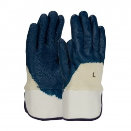 PIP 56-3145/L PIP Nitrile Dipped Glove with Terry Cloth Liner and Heavy Weight Rough Grip on Palm, Fingers & Knuckles Plasticized Safety Cuff Large 6 DZ